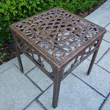 Outdoor Patio End Tables Oakland Living Mississippi Cast Aluminum End Table From