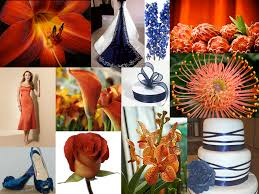 Color Combinations With Orange by The Flower Blog Color Palette Inspiration Navy Blue And