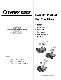 troy bilt 12227 user manual 32 pages also for 12227 3 75hp