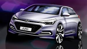 hyundai compact cars 2015 hyundai i20 sketches reveal all new city car u0027s styling
