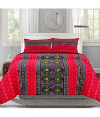 Buy Double Bed Sheets Online India Bombay Dyeing Double Cotton Multi Geometrical Bed Sheet Buy