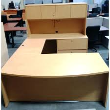 Used L Shaped Desk U Shaped Office Desk Used U Shaped Maple Desk Home Office