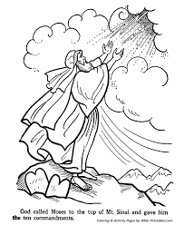 moses ten commandments testament coloring pages
