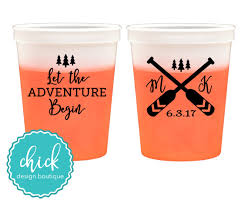 chagne wedding favors let the adventure begin 16 oz color change cup wedding favors