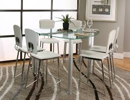 dining room luxurious glass dining table set in grey accent with dining room marvelous plectrum shape glass dining table set in counter bar design dining