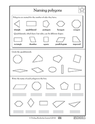 3rd grade 4th grade math worksheets naming polygons greatschools