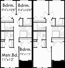 two story duplex house plans 4 bedroom duplex plans duplex plan