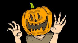 pumpkin cartoon pic halloween pumpkin man terrible super hero youtube