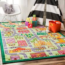 Kids Room Rugs by Amazon Com Nursery City Neighborhood Multi Kids Area Rugs 5 Feet