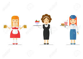 jeux de cuisine serveuse jeu de serveuse serveur de restaurant et le design de caractère de