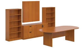 Enclosed Bookcases Offices To Go 8 Foot Conference Table With 2 Bookcases An Enclosed