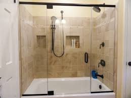 Shower Glass Doors Simple Bathroom Shower Glass Door On Small Home Remodel Ideas With