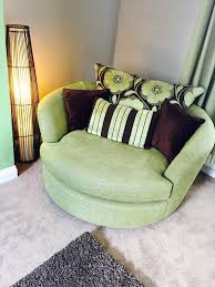 Swivel Cuddle Chair Lime Green 3 Seater Sofa And Swivel Cuddle Chair In Dewsbury