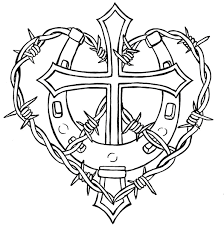 Barbed Wire Tattoos Designs Pictures Cross And Horseshoe With Barbed Wire Design Free Images At