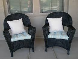 Wicker Patio Furniture Cushions - furniture appealing dark wicker chair cushions for elegant patio