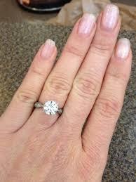 2 carat ring 1 5 carat vs 2ct show pics weddingbee