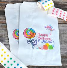 paper favor bags candyland fairy paper party favor bags candy land favors