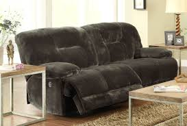 presley cocoa reclining sofa reclining sofa with drop down table full size of sofa with