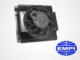 oil cooler with fan empi 96 row oil cooler fan kit products