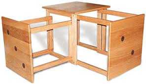 Woodworking Plans Computer Desk Free by Unique Nesting Tables Canadian Woodworking Magazine