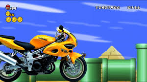 motorcycle alert u0026 finish disappeared newer super mario bros