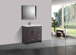 bathroom vanity with sink on right side moreno ao 36 dark gray oak modern bathroom vanity w acrylic sink