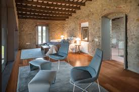 an ancient stone manor transformed into a rustic contemporary