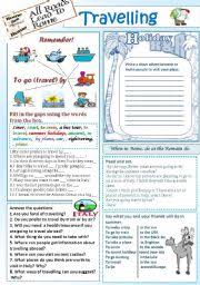 english teaching worksheets travelling