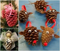 pinecone ornaments to make pine cone pine and