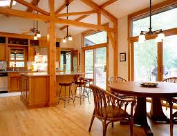 interior country style wooden kitchen dining interior decor with