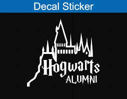 hogwarts alumni sticker hogwarts alumni decal sticker crafts hogwarts
