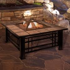 patio table with removable tiles fire pit dining table set wayfair