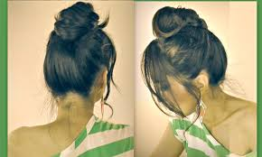 cute mustache messy bun hairstyles for short medium long hair