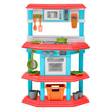 Play Kitchen Red Teamson Kids Little Chef Burly Wood Kitchen With Accessories