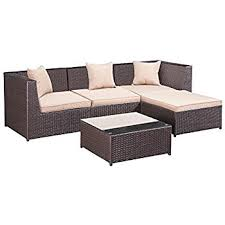 Palm Springs Outdoor Furniture by Amazon Com Palm Springs Outdoor 5 Pc Furniture Wicker Patio Set