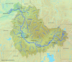 Bitterroot Mountains Map Map Of The Snake River In The Pacific Northwest Usa World