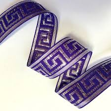 ribbon trim 1 purple and metallic silver key ribbon bty doveoriginalstrims