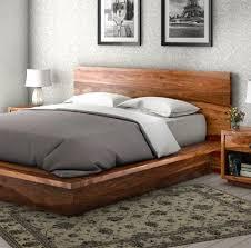Modern Platform Bed King California Modern Solid Wood King Size Platform Bed Frame 3pc