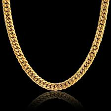 gold chain collar necklace images Gold color stainless steel collar necklace 8mm mens gold chain jpg
