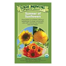 sunflower seed packets organic non gmo summer of sunflowers seed collection