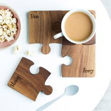 personalised set wood coasters create gift love