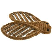 Rubber Cal Wipe Your Paws Rubber Cal U0027doggie U0027 Coir Boot Scraper Decorative Outdoor Doormat
