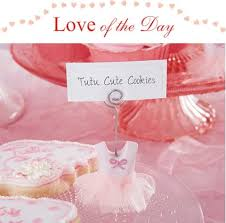 tutu baby shower theme of the day tutu place card holders