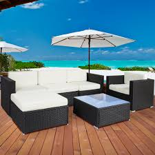Patio Furniture From Walmart - 6pc outdoor patio garden furniture wicker rattan sofa set