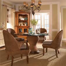 american journal 5 piece natural seagrass dining set by kincaid