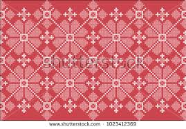 ukraine pattern vector embroidered crossstitch ethnic ukraine pattern vector stock vector