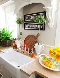 Decorating Ideas For The Top Of Kitchen Cabinets Pictures Idea For Above The Sink With No Window For The Home Pinterest