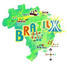 map of brazil brazil map by migy blanco