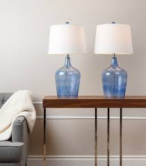 lamps azure glass table lamps blue