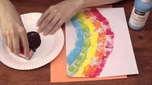 sponge printing for kindergarten activities crafts for